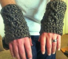 Made these wrist warmers for the hubby! Especially where we are moving will definitely be needed!