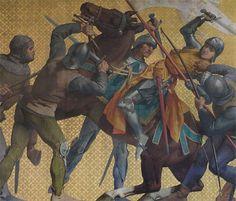 Jeanne d'Arc Surrounded and Captured at Compiègne, 1430, by Jules Eugène LENEPVEU, 1874. The Panthéon, Paris