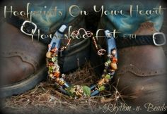 Rhythm Beads Hoofprints On Your Heart Horseshoe Art Wired Whinnies Feathers n Flair Stirrup Steeds
