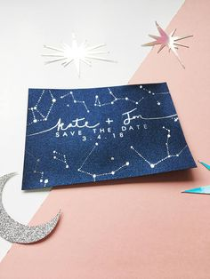 Constellation Wedding Invitations Night Sky Save the Dates