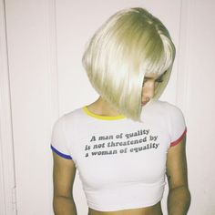 """Quality/Equality"" Cropped Tee"