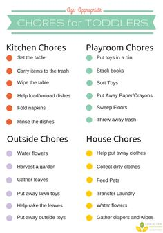 Free Toddler Chore Chart from Lemon Lime Adventures