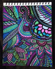 ColorIt Calming Doodles Volume 1 Colorist: Marlene Greenberg Lamancuso #adultcoloring #coloringforadults #adultcoloringpages #doodle