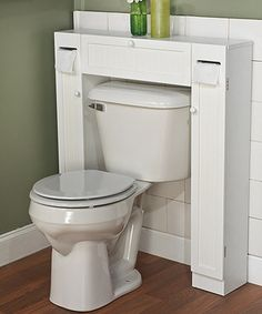 Need more space? This convenient shelf fits over the toilet, offering extra storage for soap, scrubs and sundries.