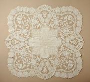 Women's handkerchief. Belgium, Ghent. 1850-1875