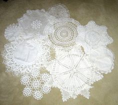 SOLD  Lot of 17 Vintage Doileys  Doilies  Linen by JewelsOfHighElegance, $15.00