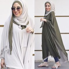 I love this Khaki top paired with jeans Islamic Fashion, Muslim Fashion, Modest Fashion, Fashion Dresses, Hijab Style, Hijab Chic, Modest Wear, Modest Outfits, Man Fashion