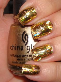 "Foil Nails in Gold ""must have"""