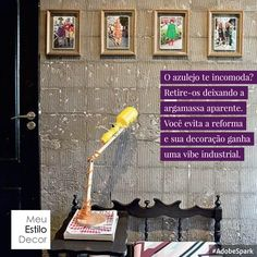Pra você que curte um #estilo de #decoração #industrial e não quer fazer #reforma  #truquesdedecor #decorvidareal #meuestilodecor #decoraçãofácil #decoraçãobarata