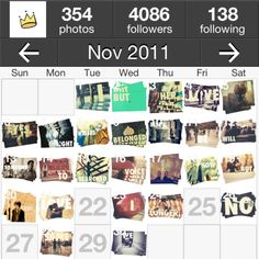 Just like photos published via @InstaCC, @reyesmendoza's photo got a theme for itself. Instead of adding hashtags to the photo, @reyesmendoza shows the exquisite balance and interestingness between image and text in photos.   @reyesmendoza's photos look like a stack of postcards and that's special in calendar view, recently the photos turns into black & white style but still very fascinating.