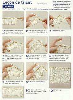 Leçon de tricot : Point ajouré ! Apprenez à tricoter un point ajouré en suivant ce tuto très simple. Des projets DIY n'attendent plus que vous !