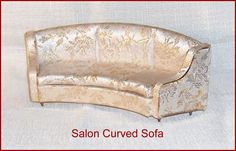 Salon Curved Sofa  Ideal Petite Princess Dollhouse Furniture Gold Color by EttasEmporium on Etsy