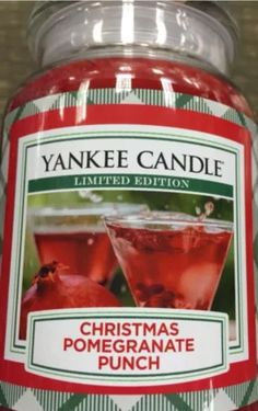 #Yankee Candle Christmas Pomegranate Punch #waxaddicts