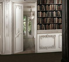 """Perspective Jardin"" Printed velvet trompe l'oeil wall decor by Christophe Koziel. Made in France."