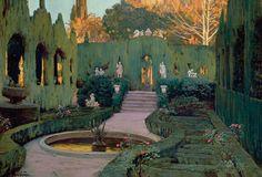 Painting the Modern Garden: Monet to Matisse Spanish Painters, Spanish Art, Art Painting, Landscape Paintings, Spanish Artists, Painting, Traditional Paintings, Garden Art, Garden Painting