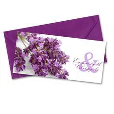 Faire-part mariage Lavande pour un mariage sur le thème de la Provence