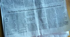 New York Times Article on NY Public Library lending wifi hotspots