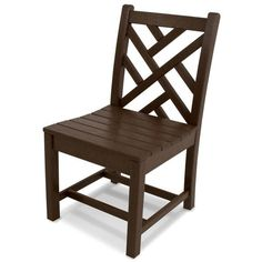 POLYWOOD® Chippendale Dining Side Chairs - Set of Two ($520) ❤ liked on Polyvore featuring home, outdoors, patio furniture, outside patio furniture, chippendale side chair, outdoors patio furniture, outdoor garden furniture and outdoor furniture