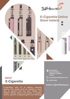If you are looking for best e-cigarette or cheap e-liquid you are just in the right place. S&Heaven is passionate about e-cig Idea and we do ou Ireland, Infographic, Heaven, Store, Infographics, Sky, Heavens, Larger, Irish