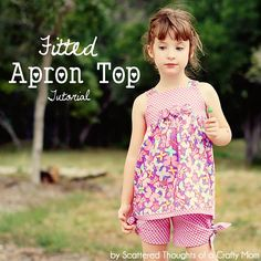 DIY Kid Clothes Refashion: DIY Fitted Apron Top Tutorial w/ Free Pattern in sizes 2 to 6