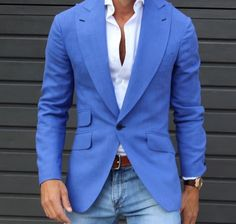 Cobalt blue men's blazer! | davidshadpour.com