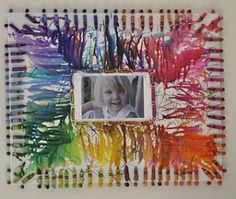 Picture Frame Melted Crayon Art