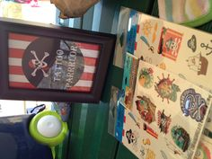 """Pirate party tattoo parrrlor And if you look there's """"how to""""  homemade temp tattoos online!"""