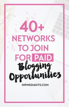 Make more money blogging with these 40+ awesome paid blogger networks. Check them out and earn money from your BLOG!
