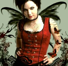 """Singer, Amy Lee of """"Evanescence"""" Amy Lee Evanescence, Punk Rock Fashion, Uk Fashion, Emy Lee, Rock N Roll, Jethro Tull, Metal Girl, My Favorite Music, Favorite Things"""
