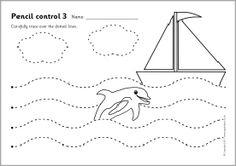 Pencil control worksheets 1 (SB4041) - SparkleBox