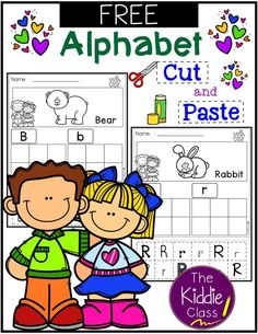 Free Alphabet Cut and Paste. These pages are perfect for the beginning of the year in preschool or kindergarten. Students will develop their phonics, handwriting, and fine motor skills in one worksheet. Sight Word Activities, Alphabet Activities, Alphabet Worksheets, Learning Letters, Kindergarten Freebies, Literacy Centers, Kindergarten Centers, Teaching Kindergarten, Teaching Kids