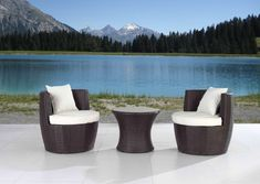 Cresta Modern Dark Brown Wicker Bistro Set By Velago (Capri Bistro Set), Patio Furniture (ABS) Outdoor Sofa, Outdoor Furniture Sets, Outdoor Decor, 3 Piece Bistro Set, Aluminum Patio, Patio Seating, Outdoor Settings, Wicker, Dark Brown