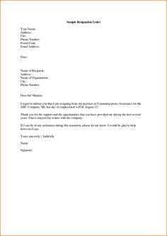 write a resignation letter career tools pinterest resignation