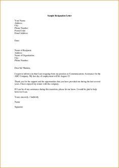 Resignation Letter To Seek Better Opportunity