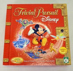 Trivial Pursuit Disney Edition Red Box Board Game 2005 100% Complete Family Game #Hasbro