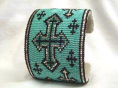 Beautiful bead-loom design... love the colors... need to start beading again...