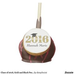 Class of 2016, Gold and Black Personalized Cake Pops