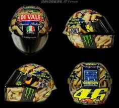 2014 Valentino Rossi's helmet MUGELLO PASTA ITALIANA
