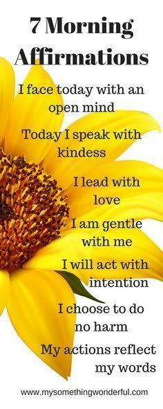 Providing tips for Intentional living/ daily affirmations/ morning meditation/ living in gratitude/ positive attitude Start each day with these morning #affirmations and find #joy and #happiness in every day life