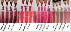 Nyx lip liner swatches