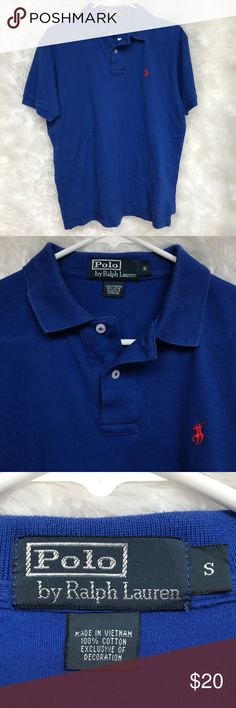 Men's Polo By Ralph Lauren Polo Shirt Men's Cobalt Blue/Red Polo By Ralph Lauren Polo Shirt. Polo is a size small. It has been worn a few times, but is still in excellent condition! Perfect for summertime. Great for dressing up or just a casual look! Open to offers! ☺️ Polo by Ralph Lauren Shirts Polos