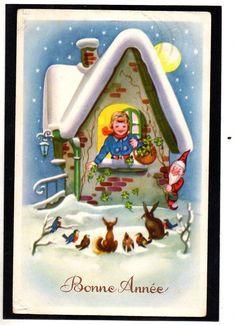 Gnomi Gnomes - Natale Christmas - Coniglio Rabbit - Viaggiata - FU791