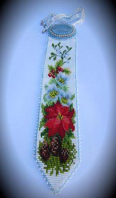 """Коллекция галстуков времена года""""Зимняя композиция""""   biser.info - всё о бисере и бисерном творчестве"""