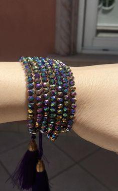 Tassel Bracelet, Tassel Jewelry, Gypsy Jewelry, Bead Jewellery, Crystal Bracelets, Charm Jewelry, Diy Jewelry, Beaded Jewelry, Jewelry Bracelets