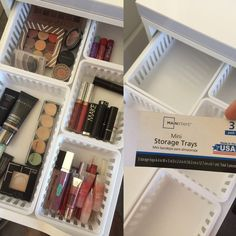 Walmart Makeup Storage Ideas for IKEA Alex Drawers - makeup storage with MainStays kitchen storage trays from Walmart fit perfectly in Alex drawers!