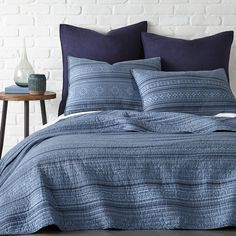 Blue Bedding, Quilt Bedding, Bedding Sets, King Quilt Sets, Queen Size Quilt, Indigo, Twin Quilt, Cotton Quilts, Bedroom Decor