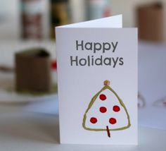 Stamping Tree Cards with Paper Tubes @MakeandTakes.com.com