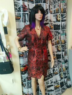 & Other Stories red going out dress