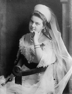 Maria Pavlovna — Grand Duchess of Russia, the daughter of Grand Duke Pavel Alexandrovich & Alexandra Georgievna (Princess of Greece and Denmark). Granddaughter of Emperor Alexander II. Married to Karl Wilhelm Ludwig, Prince Swedish, Duke Sodermanlands (1908). Second morganatic marriage with Duke Sergei Putyatin (1917). Life:1890-1958. (67)