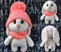 This adorable bunny amigurumi wins the hearts! Get the crochet pattern for FREE! One Skein Crochet, Crochet Blanket Edging, Crochet Baby Cardigan, Crochet Headband Pattern, Chunky Crochet, Crochet Bunny, Crochet Animals, Crochet Toys, Hat Crochet